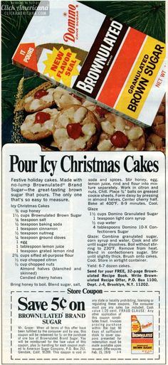 Tasty Plan - Christmas Cake, almond cake with cranberries and grapefruit. Retro Recipes, Old Recipes, Vintage Recipes, Cookbook Recipes, Cake Recipes, Holiday Cakes, Christmas Cakes, Christmas Recipes, Christmas Bread