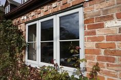REHAU offer a range of energy efficient double glazed windows using the latest uPVC technology - including patio doors, French doors & uPVC front doors Grey Windows, Porch Windows, Kitchen Windows, Modern Windows, Wood Windows, Casement Windows, House Windows, Windows And Doors, House Cladding