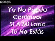 Te Necesito - Esperanza de Vida (letra / lyrics)