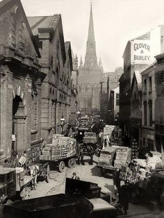 The Bull Ring markets, morning deliveries, spring 1936