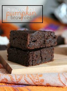 Kaila's Place| 2 Ingredient Pumpkin brownies