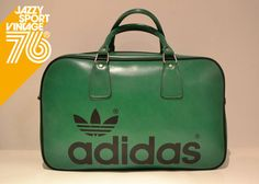 Vintage 1970s Adidas Peter Black Northern Soul Holdall Weekend Sports Bag