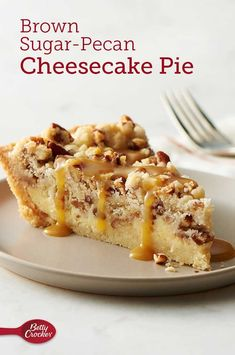 A break from your conventional pecan pie, this over-the-top cheesecake-filled dessert with a sugar cookie crust is a fall baker's dream! Sauce may be made ahead and refrigerated until ready to serve. To reheat sauce, microwave in glass 1-cup measuring cup uncovered on High 20 to 30 seconds, and stir until it reaches a smooth drizzling consistency.