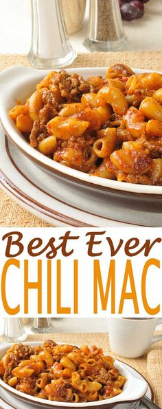 Tomato Chili Mac. We're talking about an easy dinner recipe.  Serve with this side salad.