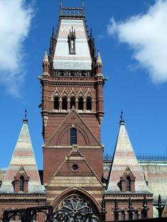 Memorial Hall tower at Harvard
