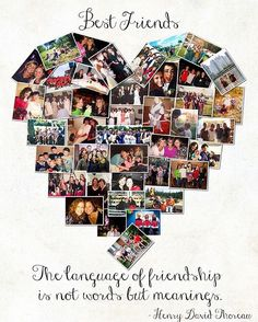 Birthday Gifts For Best Friend Photos Collage 45 Ideas Diy Best Friend Gifts, Best Friend Cards, Best Friend Photos, Cards For Friends, Diy Gifts, Heart Shaped Photo Collage, Photo Collage Gift, Photo Collages, Birthday Gifts For Best Friend