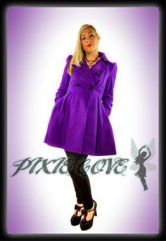 Alice Coat Winter Wardrobe, Pixie, Raincoat, Purple Coat, Jackets, Clothes, Collection, Alice, Fashion