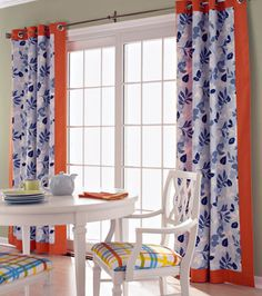 Sliding door window treatments, love this...different color, this is probably about the size that our kitchen doors will be