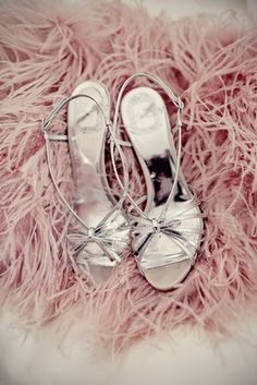 Strappy silver heels and pink boa = feminine divinity. :-) ~ETS