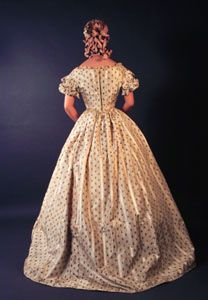 1860-65 Dress with Evening Bodice