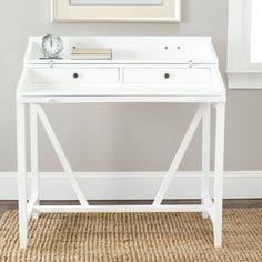 Safavieh Wyatt 2 Drawer Writing Desk W/Pull Out, Multiple Colors