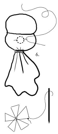 How to make a nose - Doing Without - FREE Waldorf Baby Doll Pattern and Instructions!