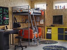 KNOPPARP 2-zitsbank   IKEA IKEAnl IKEAnederland bank zitbank oranje fel kleuren KALLAX open kast opberger opbergen kinderkamer slapen bed DOFTKLINT dekbedovertrek spelen MICKE bureau bureaustoel hoogslaper inspiratie wooninspiratie interieur