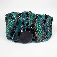 Green and Black Freeform Cuff  $36.00