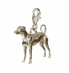 Natural Doberman Dog Charm, Doberman from Silver Dog Charms