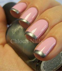 pink/silver nails