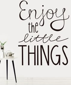 Friday, enjoy the little things today ! Wall Stickers, Wall Decals, Wall Vinyl, Wall Drawing, Home Decor Wall Art, Bedroom Decor, Wall Quotes, Life Quotes, Word Art
