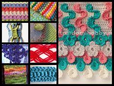 Interesting Crochet Stitches.... FREE PATTERNS