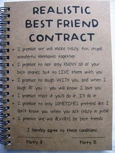 Best Friend Contract 5 x 7 buy it from Etsy! #BFFGoals - Daily Opulence Team | www.dailyopulence.com