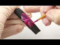 Nail Art by Liliya Sereditskaya (Tropical flower) russian painting - YouTube