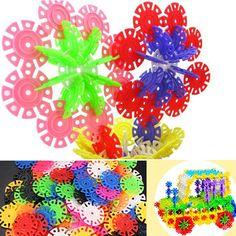 100Pcs Multicolor Snowflake Building Blocks Kid Educational Toy Puzzle Sale-Banggood.com
