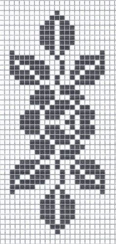 How to a Beautiful Rose Flower in Filet Crochet: Filet Crochet Rose Chart Filet Crochet, Crochet Pixel, Crochet Chart, Crochet Doilies, Crochet Lace, Crochet Stitches, Crochet Solo, Bead Loom Patterns, Beading Patterns