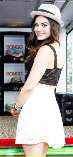 Lucy Hale - Pretty little liars. I love her style/hair/everything.