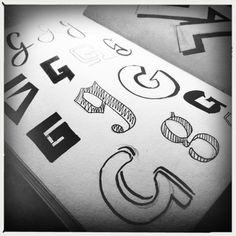 G, kleine letters, handlettering