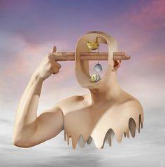 HitKu — by Salvador Dali Art And Illustration, Bizarre Kunst, Bizarre Art, Surreal Artwork, Surreal Photos, Salvador Dali Kunst, Dali Paintings, Surrealism Painting, Modern Surrealism