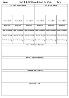 Student Success Plan Template  Goal Setting With Students Form