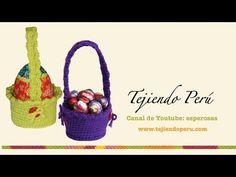 Canastas para huevos de Pascua tejidas en crochet (amigurumi) - YouTube