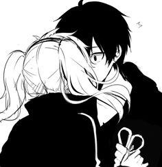 Tags: Anime, Enomoto Takane, Apfl0515, Kiss On The Lips, Eyes Wide Open, Kagerou Project, Kisaragi Shintaro