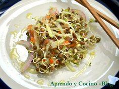Receta Entrante : Ensalada crujiente colorina por Coccoloba