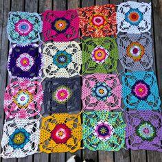 Rustic lace squares.