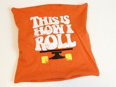 Kids sometimes have trouble parting with favorite T-shirts after they outgrow them. Instead of getting rid of the old tees, upcycle them into decorative throw pillows for their bedroom or playroom.