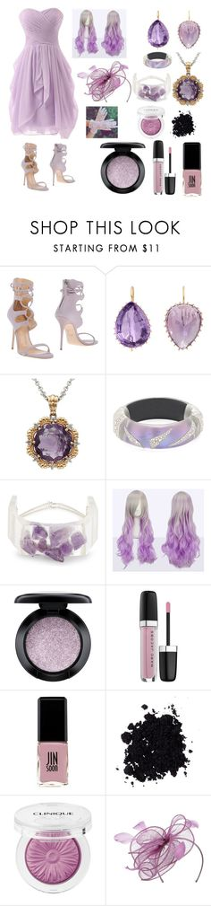 """""""Lavender Prom Rope"""" by mizuki-gudgen ❤ liked on Polyvore featuring Giuseppe Zanotti, Renee Lewis, Lord & Taylor, Alexis Bittar, CAITLIN PRICE, MAC Cosmetics, Marc Jacobs, Jin Soon, Clinique and Nordstrom"""