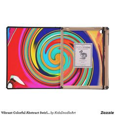 Vibrant Colorful Abstract Swirl of Melted Crayons Cases For iPad