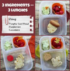 Creative Food: Simple Fall Lunch ideas! Packed in #EasyLunchboxes