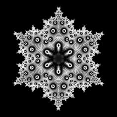 A Series of Snowflakes • subblue, did I ever mention how much I love fractals? ;)