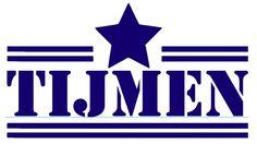 Naam sticker: Dubbele lijn met grote ster in het midden