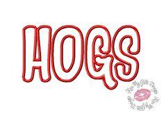 HOGS Machine Embroidery Applique Design