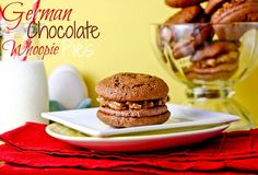 German Chocolate Whoopie Pies