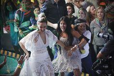 #Annik! Ana Paula e Munik comemoram juntas na Final do BBB16   (Foto: Raphael Dias/Gshow)