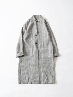 cotton linen silk long jacket