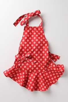 Strawberry Spots Kids Apron: For your adorable little chef.