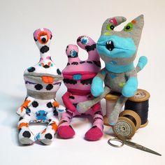 Sock Monster Mates by OddSoxUK, via Flickr