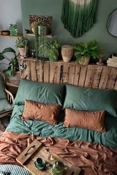 Bohemian Bedroom And Bedding Design – Dream Bedroom – Bedroom Ideas Dream Rooms, Dream Bedroom, Home Bedroom, Bedroom Ideas, Bedroom Designs, Modern Bedroom, Bedroom Green, Trendy Bedroom, Nature Bedroom