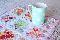 Granny square mug rug