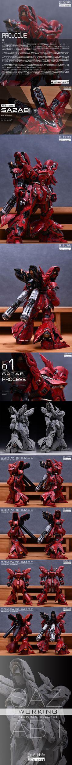 MG MSN-04 SAZABI サザビー 徹底改修塗装済完成品 - ヤフオク!