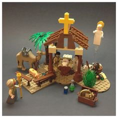 Lego nativity scene- this is awesome. Family Christian has them on clearance right now